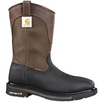 "Carhartt Men's 11"" Brown/Black Safety Square Toe Wellington Boot"
