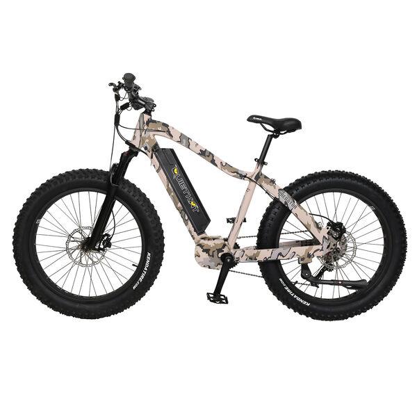 "QuietKat Predator 750-Watt Electric Mountain Bike 19"", Camo"