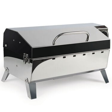 Camco Olympian Hybrid Stainless Steel 120V Electric/LP Gas Grill