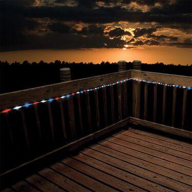 50 LED Red, White & Blue Solar Rope Light, 23'