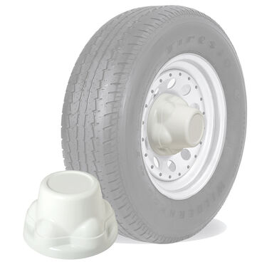 Phoenix QuickTrim ABS Trailer Hub Cover, 5-Lug Cover, white