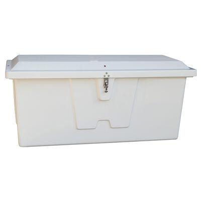 "Stow 'N Go Fiberglass Dock Box White Small Standard (24""H x 54""W x 22""D)"