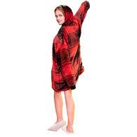 Sherpy Zip-Up Sherpa Hoodie – Red Plaid