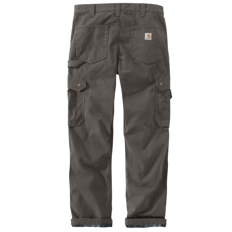 Carhartt Men's Ripstop Cargo Work Flannel-Lined Pant image number 5