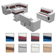 Toonmate Deluxe Pontoon Furniture with Toe Kick Base, Group 1 Package Plus Captain Stand