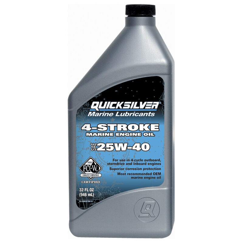 Quicksilver 4-Cycle SAE 25W-40 Sterndrive/Inboard Oil Quart image number 1