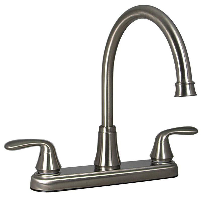Kitchen 2-Handle Faucet, Brushed Nickel Finish image number 1