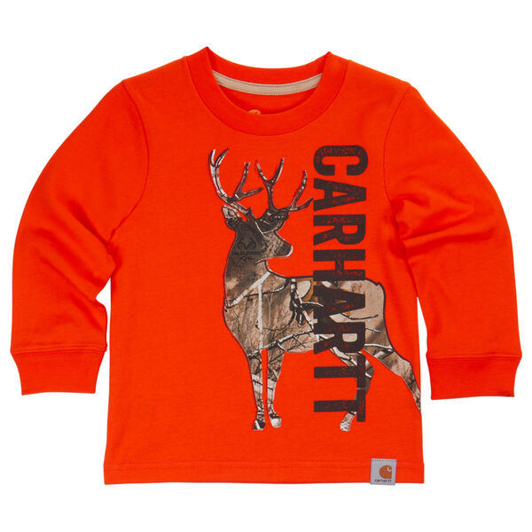 Carhartt Child's Deer Camo Long-Sleeve T-Shirt