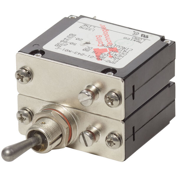Blue Sea Systems COTS Military-Grade A-Series Toggle Circuit Breaker, 2 Pole 50A