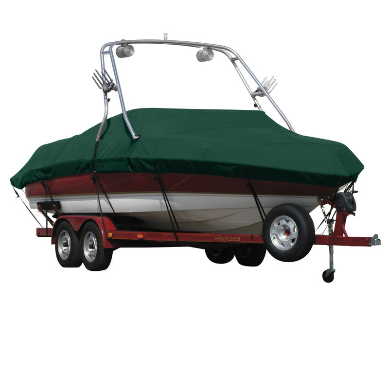 Exact Fit Covermate Sharkskin Boat Cover For SEA RAY 195 SPORT w/XTREME TOWER image number 8