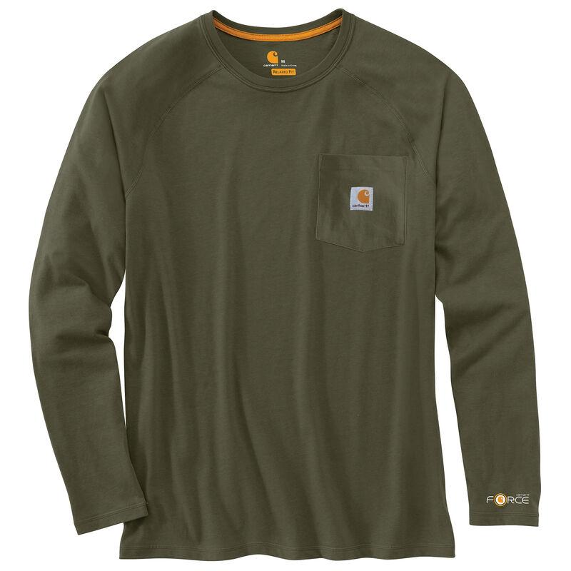 Carhartt Men's Force Cotton Delmont Long-Sleeve T-Shirt image number 13