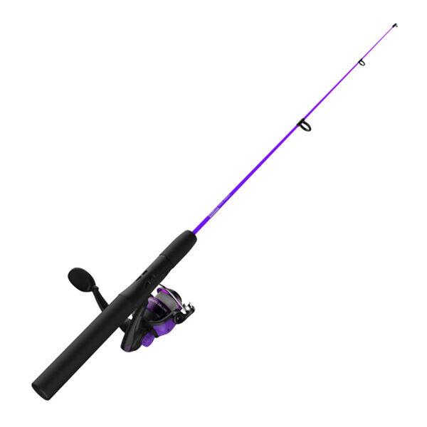 "Zebco Dock Demon Spinning Combo, 30"" Rod, Purple"