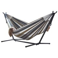 Vivere Double Hammock with 9' Stand Combo, Desert Moon