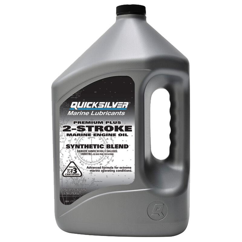 Quicksilver Premium Plus TC-W3 2-Stroke Engine Oil, Gallon image number 1