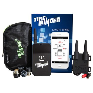 TireMinder Smart Tire Pressure Monitoring System with 4 Transmitters for RVs, Motorhomes, 5th Wheels, Motor Coaches, and Trailers