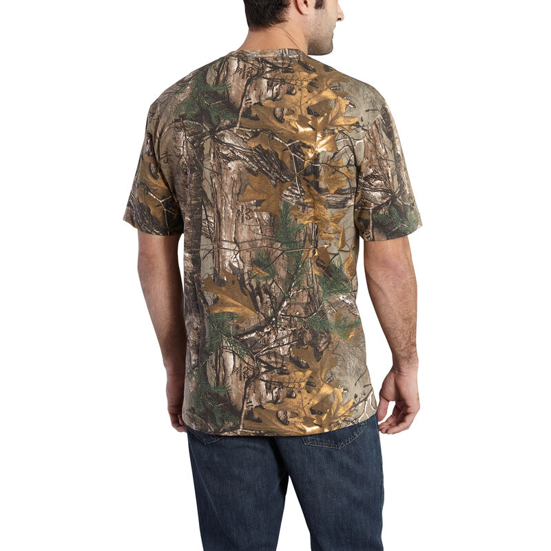 Carhartt Men's Realtree Xtra Short-Sleeve Pocket Tee image number 2