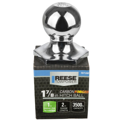 """Reese Towpower 1-7/8"""" Chrome Interlock Hitch Ball, 3,500 lbs."""