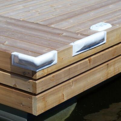 """Dock Pro Vinyl Dock Bumper White 18"""" Straight Mount"""