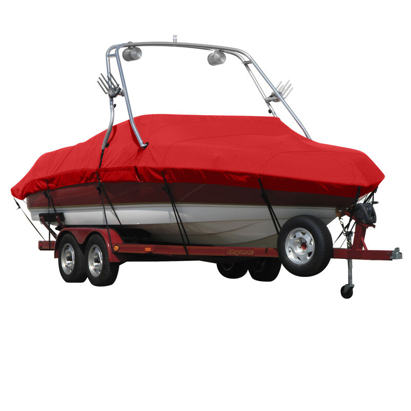 Exact Fit Sunbrella Boat Cover For Moomba Outback V W/Ski Pylon Covers Platform image number 14