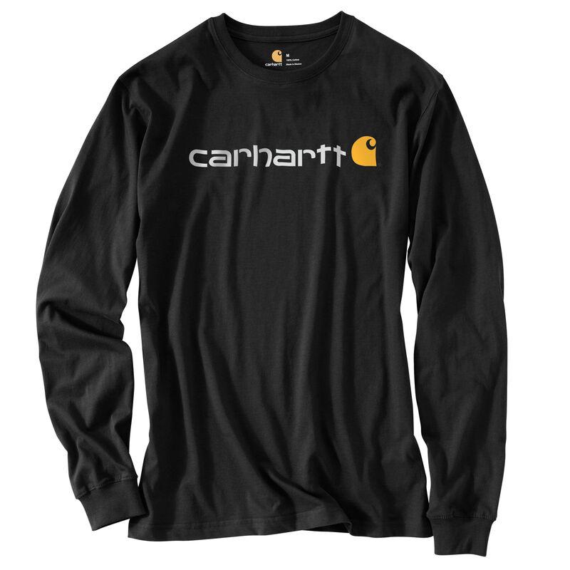 Carhartt Men's Long-Sleeve Logo Tee image number 1