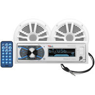 """Boss MCK632WB.6 AM/FM/MP3/USB Bluetooth Receiver Package w/Two 6.5"""" Speakers"""