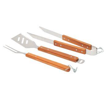 3 Piece Stainless Steel Nesting BBQ Tool Set