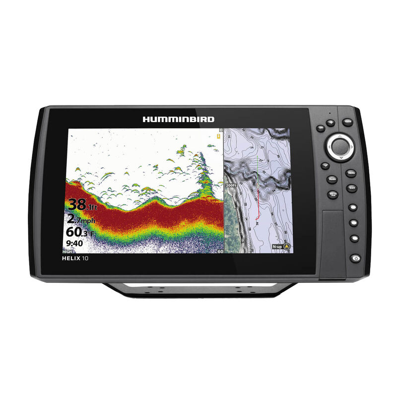 Humminbird Helix 10 CHIRP MEGA DI+ GPS G3N Fishfinder Chartplotter image number 1