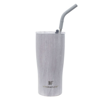 Hydraflow 20-oz. Capri Tumbler w/Straw, Gray Woodgrain