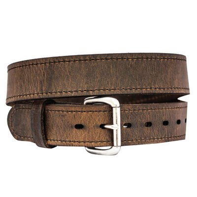 """Versacarry Double Ply Leather Belt, 38"""", Distressed Brown"""