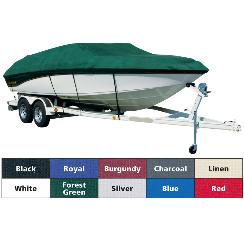 Exact Fit Covermate Sharkskin Boat Cover For TRACKER PRO DEEP V-17 CONSOLE MODEL image number 1