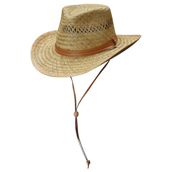 Dorfman Pacific Men's Outback Rush Straw Cord Hat