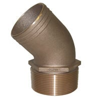 Groco 45° Bronze Pipe to Hose Fitting
