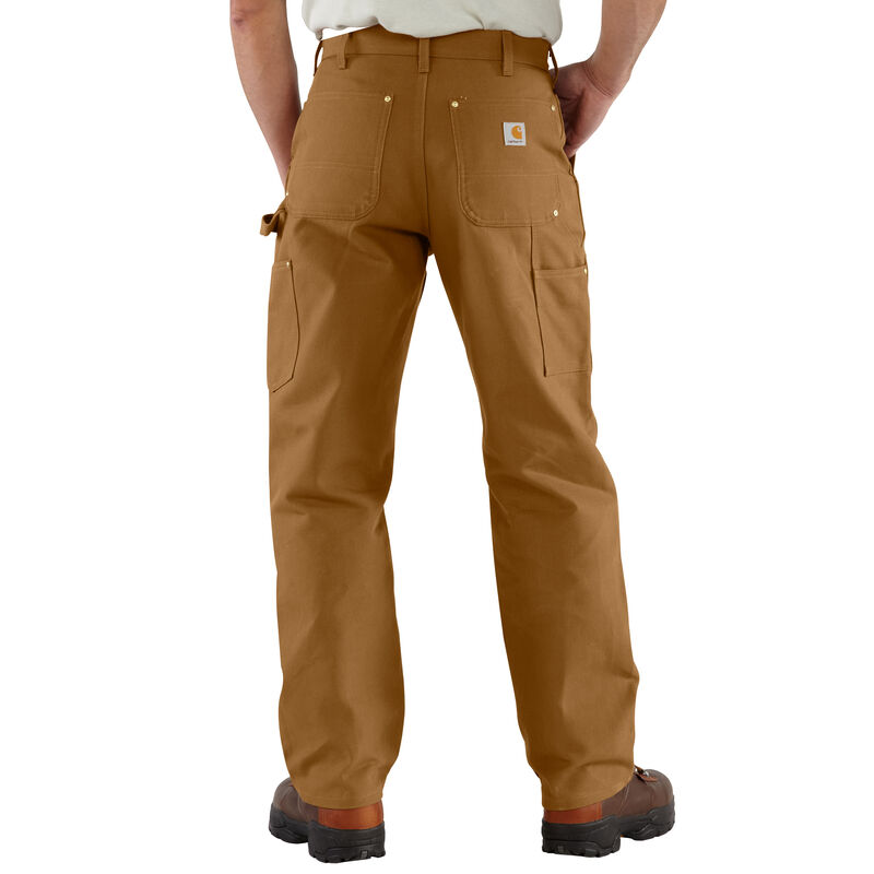 Carhartt Men's Firm Duck Double-Front Work Dungaree Pant image number 4