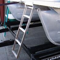 Under Deck 5-Step Pontoon Boat Ladder For Flat Front Decks Only