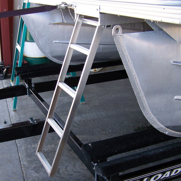 Under Deck 5-Step Pontoon Boat Ladder For Flat Front Decks Only