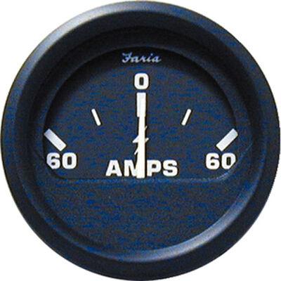 "Faria 2"" Euro Black Series Ammeter, 60-0-60"