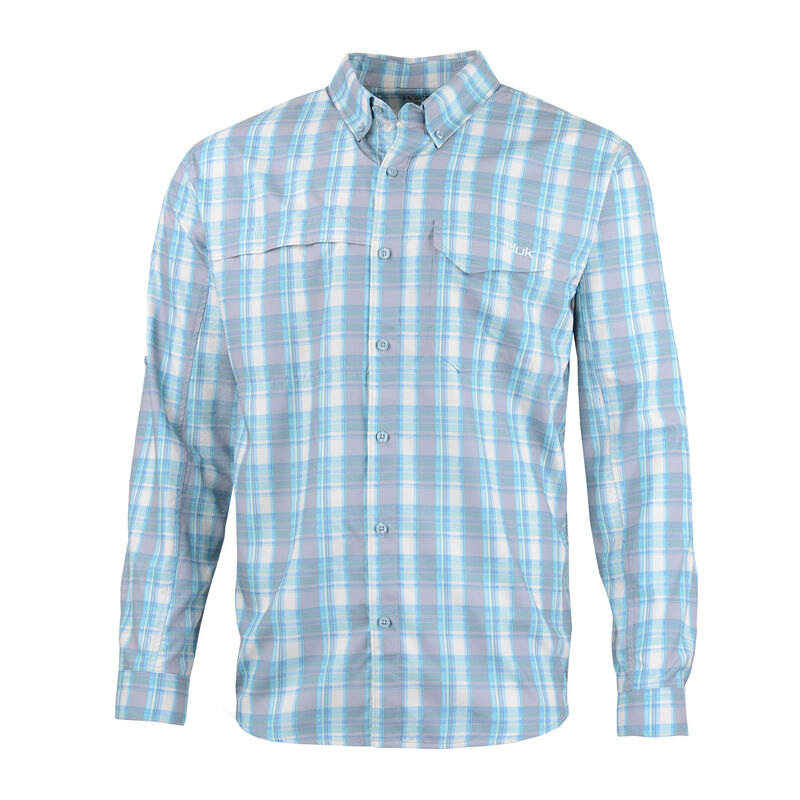 Huk Men's Tide Point Woven Plaid Long Sleeve image number 1