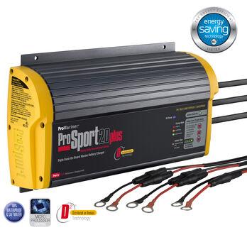 ProMariner ProSport Generation 3 Marine Battery Charger, 20-Amp/Triple Bank