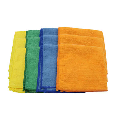 Grip On Tools Microfiber Cleaning Cloths, 12-pack