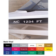 Custom Basic Vinyl Registration Numbers, 2 sets