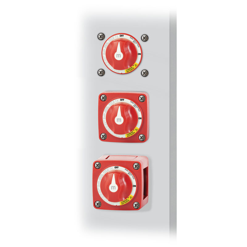 Blue Sea m-Series Mini Dual Circuit Plus Battery Switch - Red image number 4