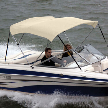 """Bimini Top Polyester Fabric and Boot Only, 3-Bow 6'L, 46""""/54""""H, 79""""-84""""W"""
