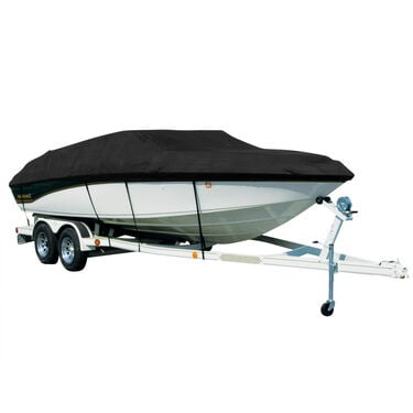 Covermate Sharkskin Plus Exact-Fit Cover for Boston Whaler Dauntless 15  Dauntless 15 W/Bow & Stern Rails