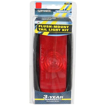 "Sealed Tail Light; 6"" red oval, flush mount with rubber grommet ring"