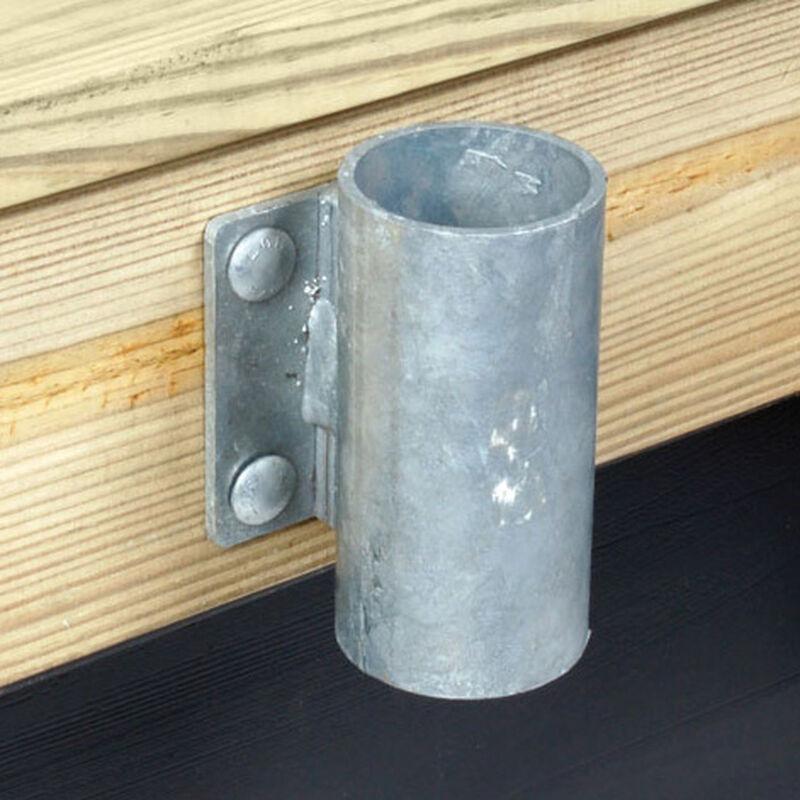 """Standard-Grade 3/16"""" Floating Dock Hardware - Outside 3"""" Pipe Holder image number 1"""