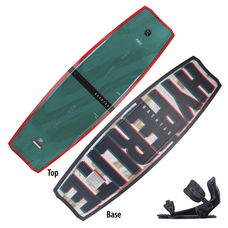 Hyperlite Hastag Wakeboard With System Pro Bindings image number 1