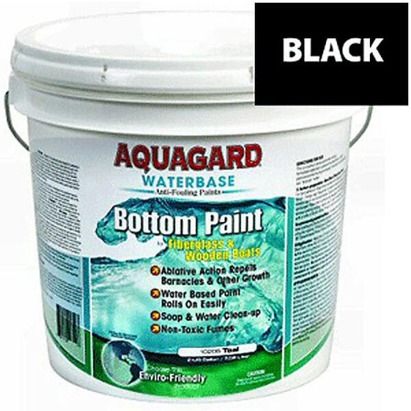 Aquaguard Waterbase Anti-Fouling Bottom Paint, 2 Gallons, Black