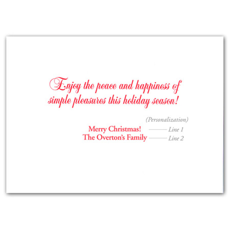 Personalized Christmas Solitude Christmas Cards image number 2