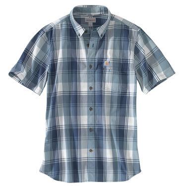 Carhartt Men's Essential Plaid Button-Down Short-Sleeve Shirt