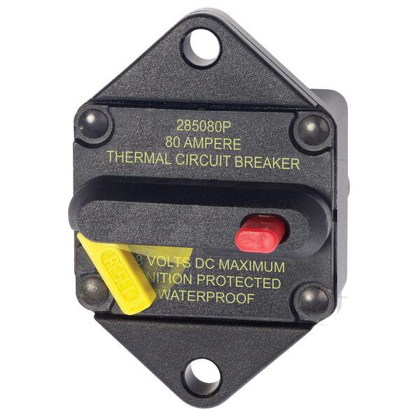 Blue Sea Systems 285 Series Circuit Breaker, Panel Mount, 80 Amp